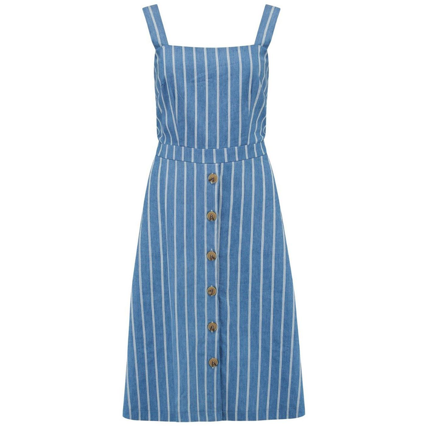 Rosa SUGARHILL BRIGHTON Chambray Stripe Sundress