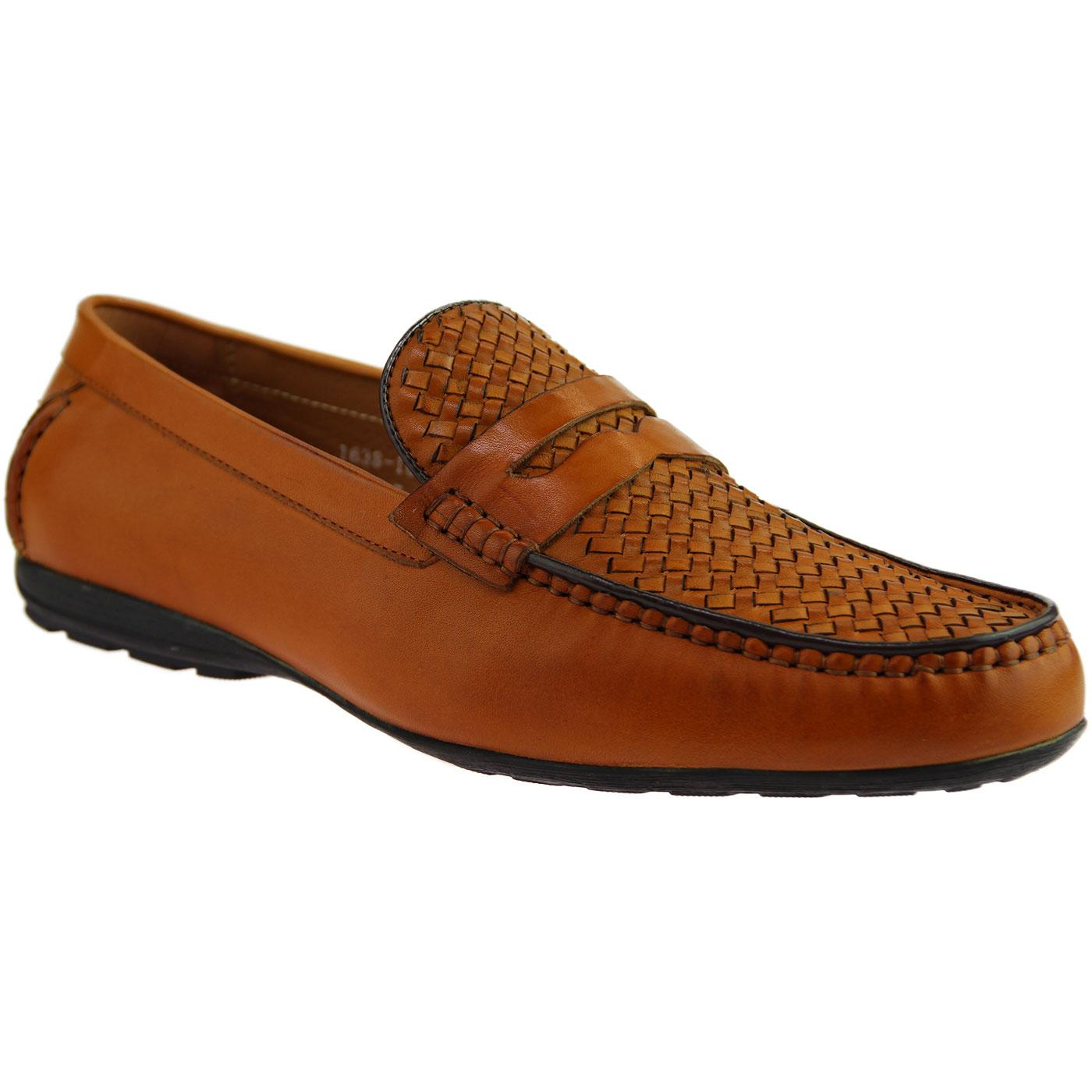 Ilkay SERGIO DULETTI Basket Weave Driving Shoes T