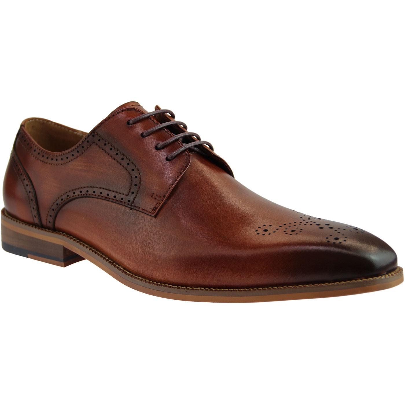Leroy SERGIO DULETTI Mod Derby Brogue Shoes BROWN