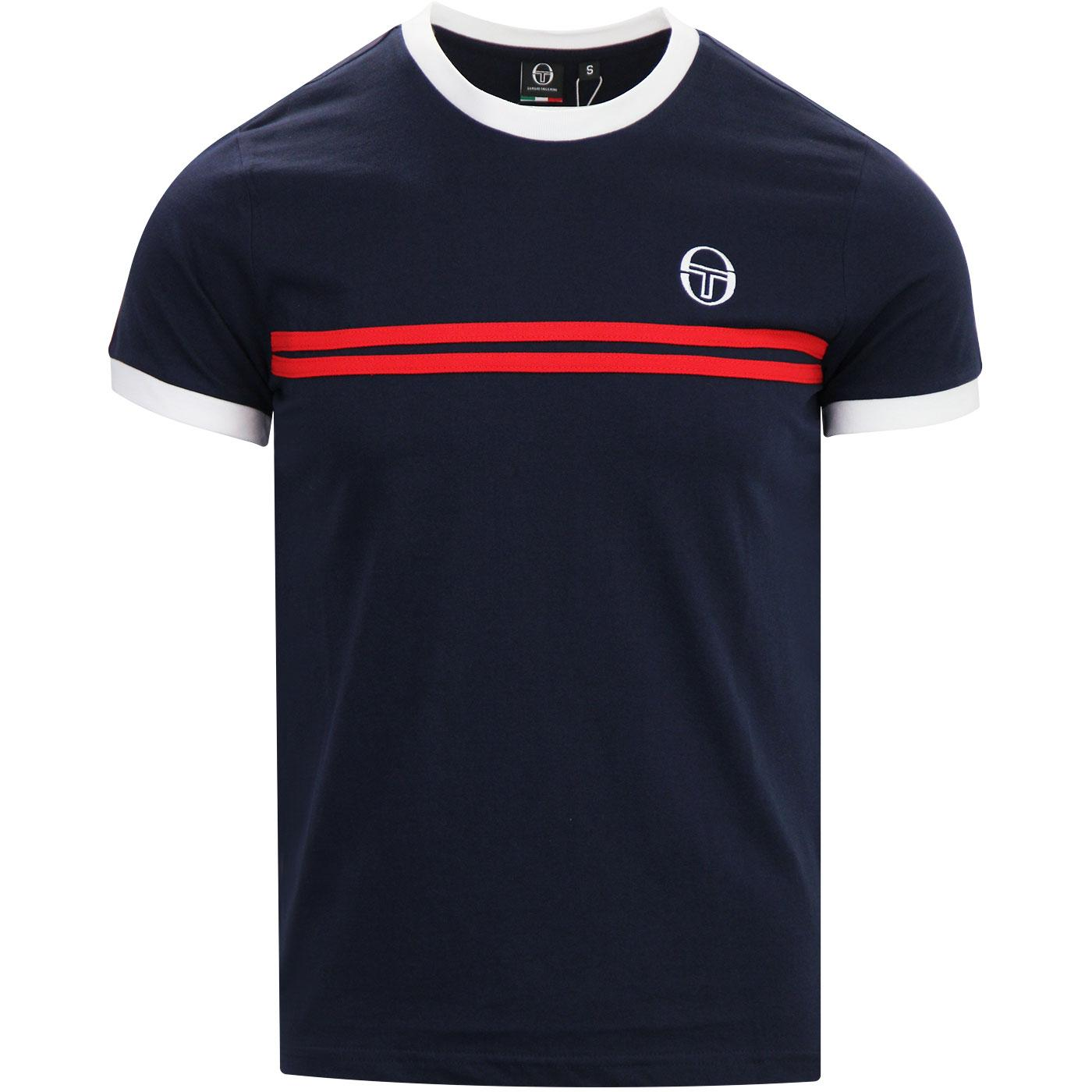 Supermac 3 SERGIO TACCHINI Retro 80's Tee NAVY/RED