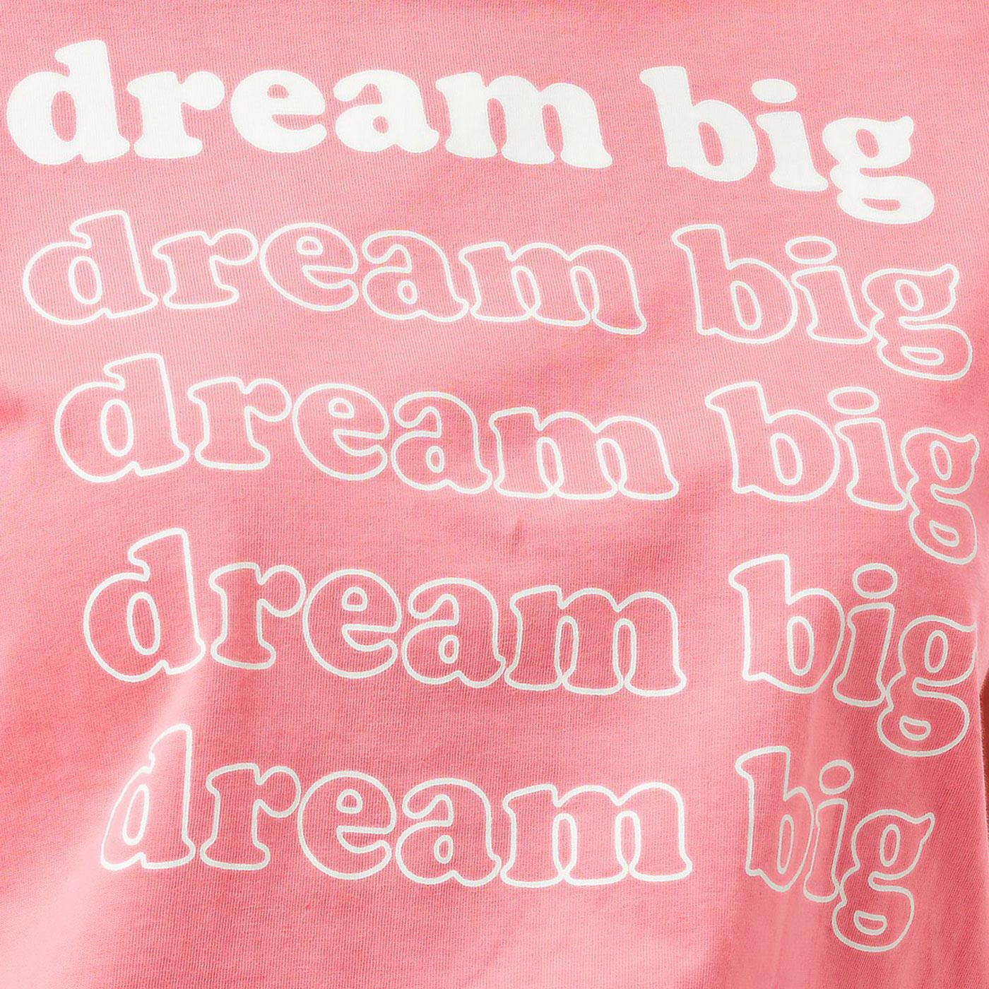 Close-up of the 'Dream Big' t-shirt from Sugarhill Brighton