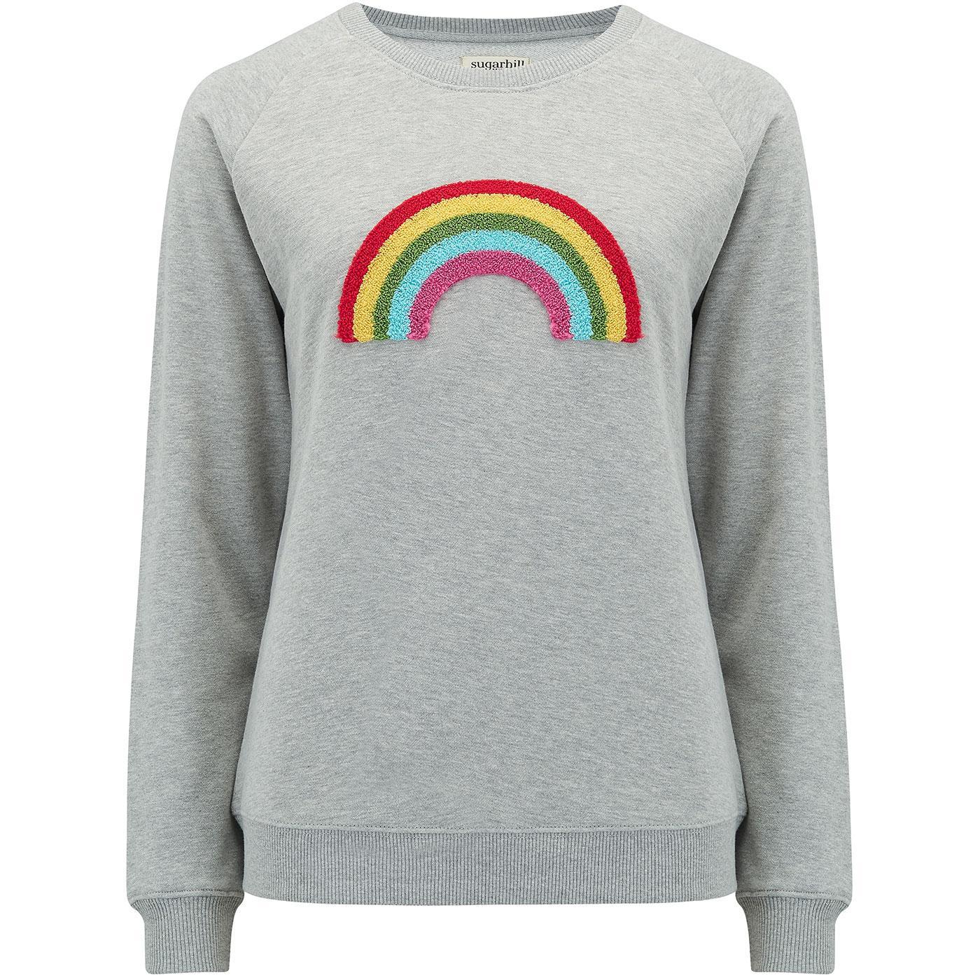 Laurie SUGARHILL BRIGHTON Retro Rainbow Sweater