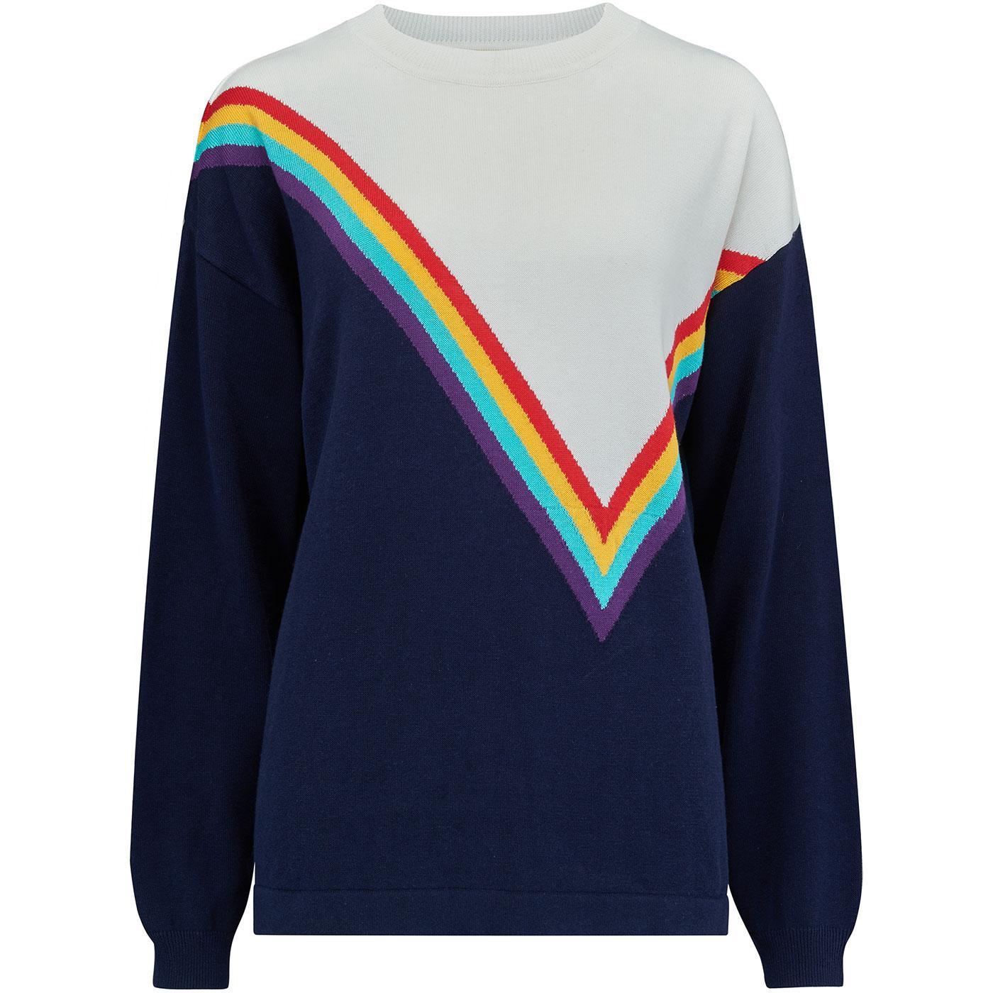 Maria SUGARHILL BRIGHTON Retro 70s Rainbow Jumper