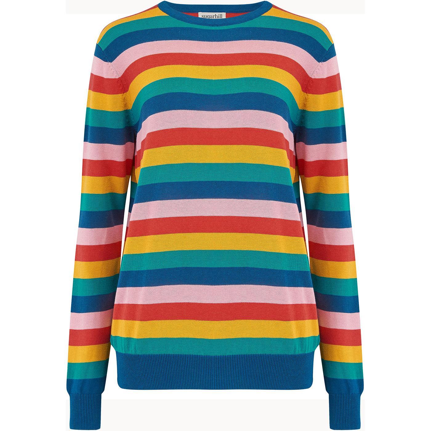 K0161 rita summer multi stripe sweater