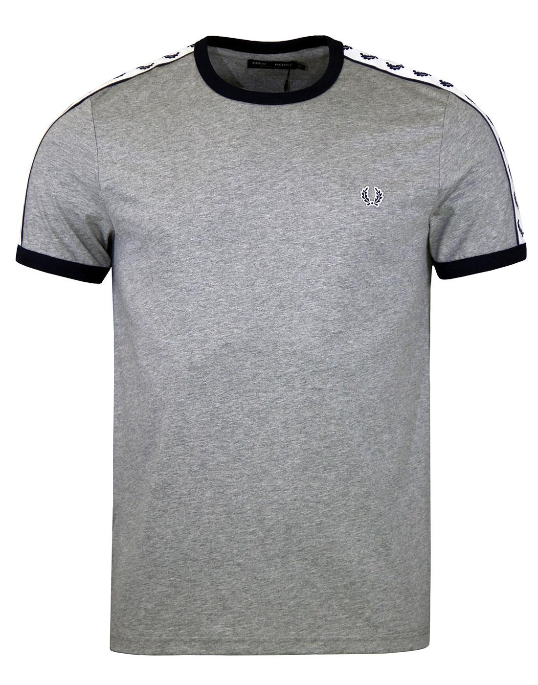 FRED PERRY M6347 Steel Marl Taped Ringer Tee