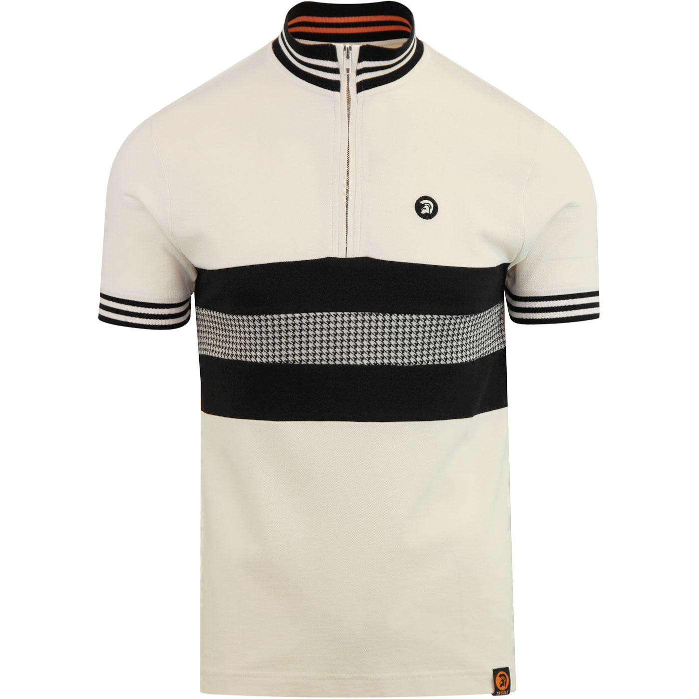 TROJAN RECORDS 2-Tone Dogtooth Panel Cycling Top