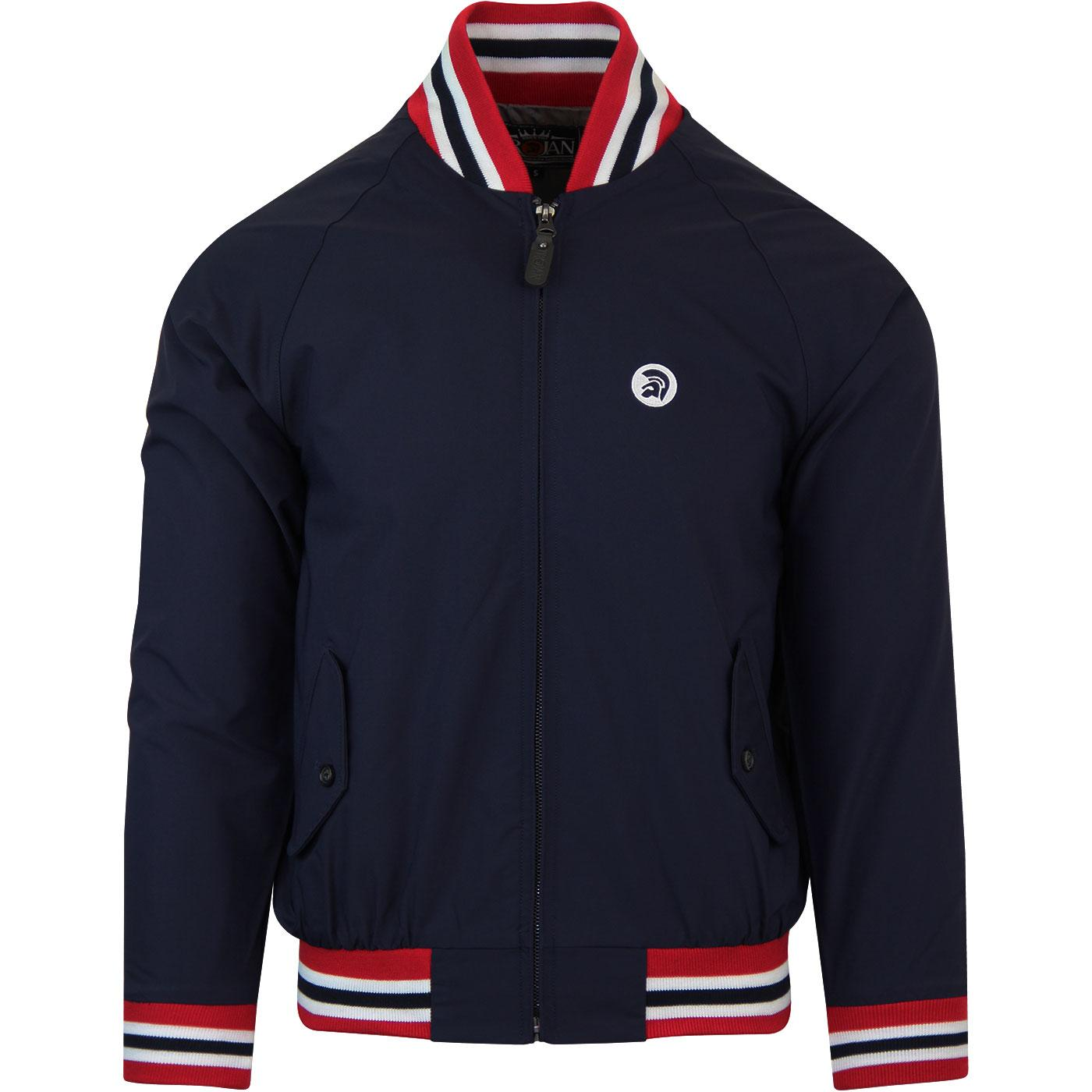 TROJAN RECORDS Men's Mod Monkey Jacket in Navy