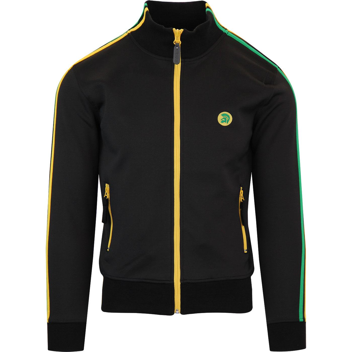 TROJAN Retro Mod Twin Stripe Jamaica Track Top