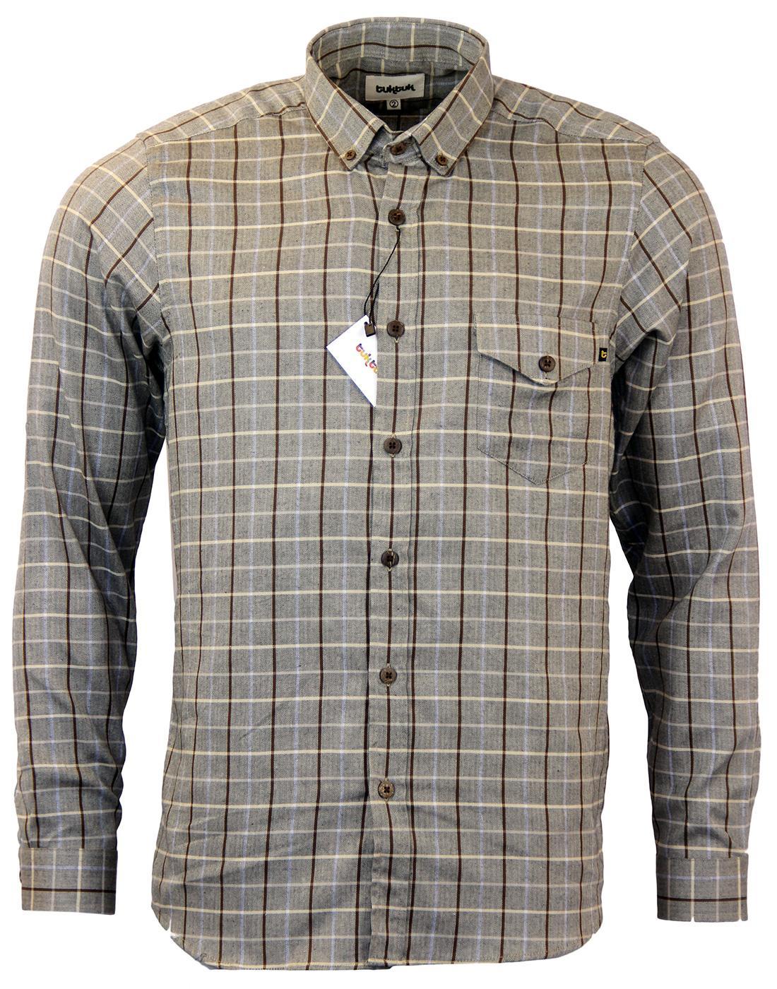 Larry TUKTUK Retro Check Brushed Cotton Shirt