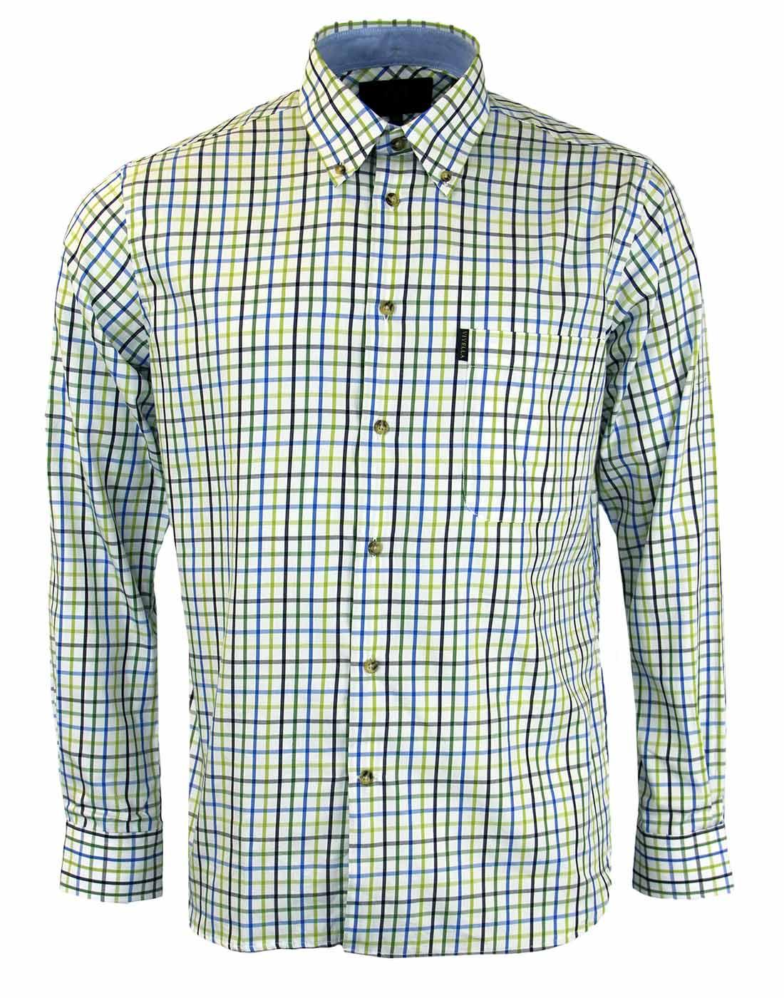 VIYELLA Retro Tattersall Check Button Down Shirt C