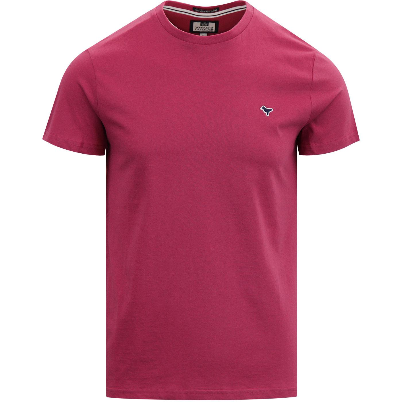 Enzo WEEKEND OFFENDER Retro T-Shirt Fuchsia