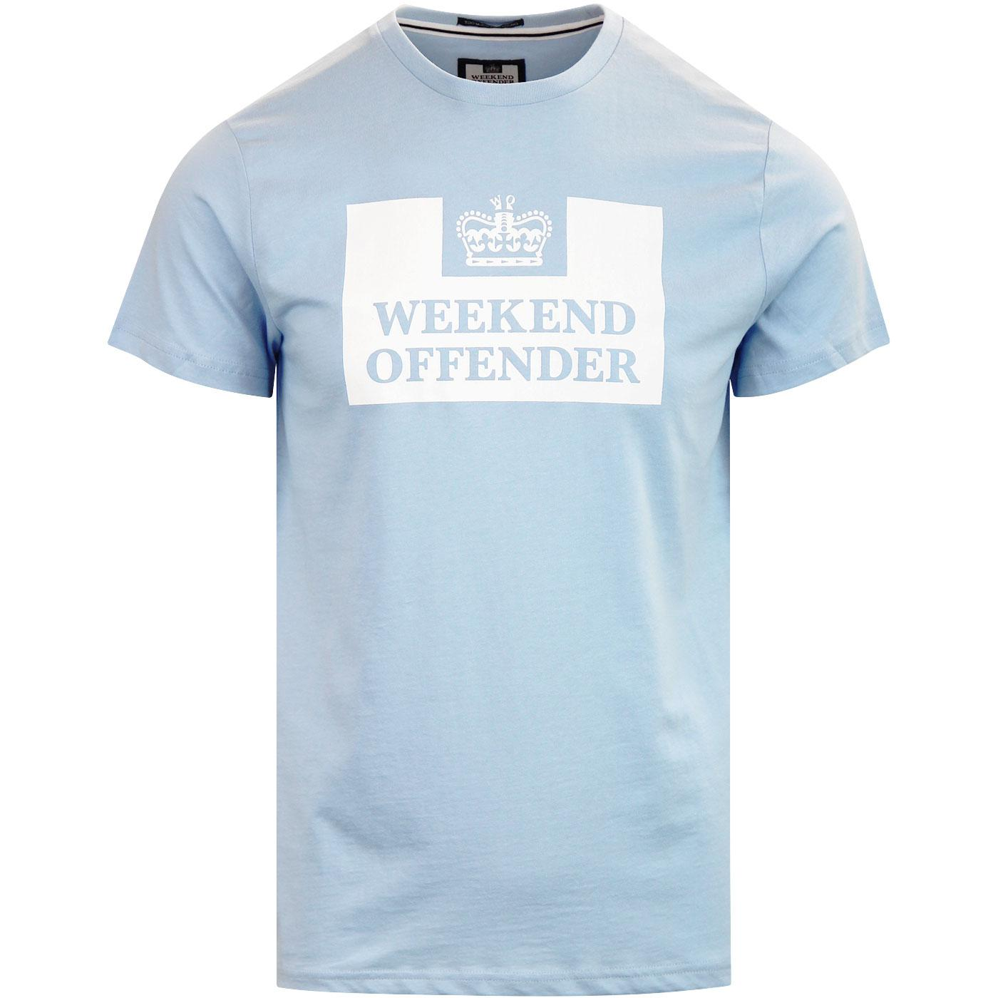 WEEKEND OFFENDER Retro Casuals Prison Tee Sky