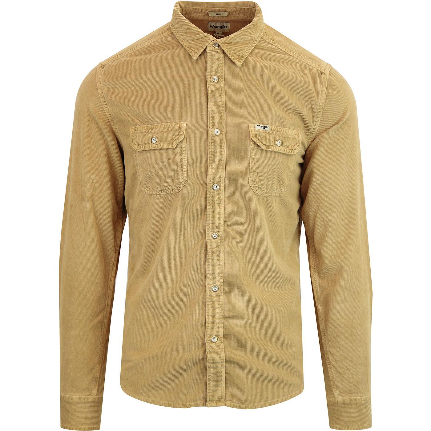 WRANGLER Retro 70s Western Flap Pocket Cord Shirt