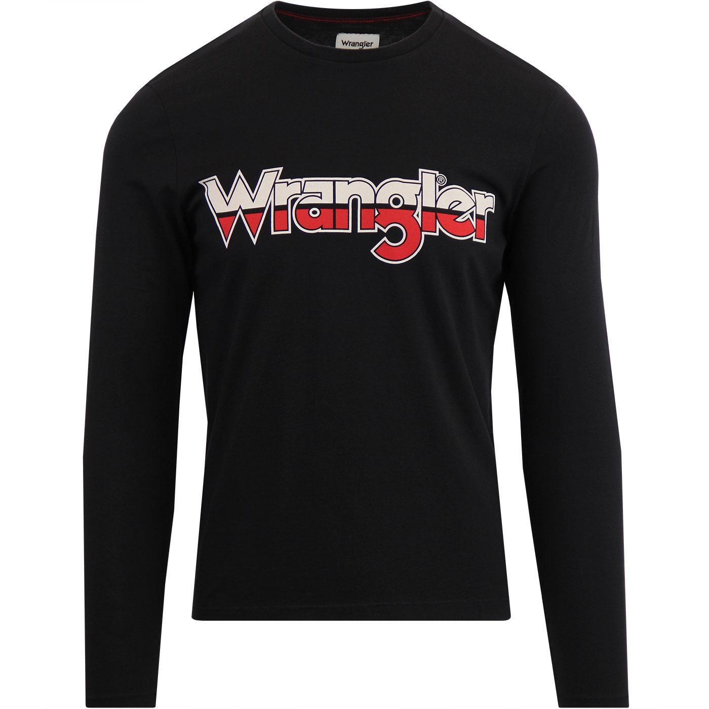 WRANGLER Men's Retro 70s Long Sleeve Logo T-Shirt
