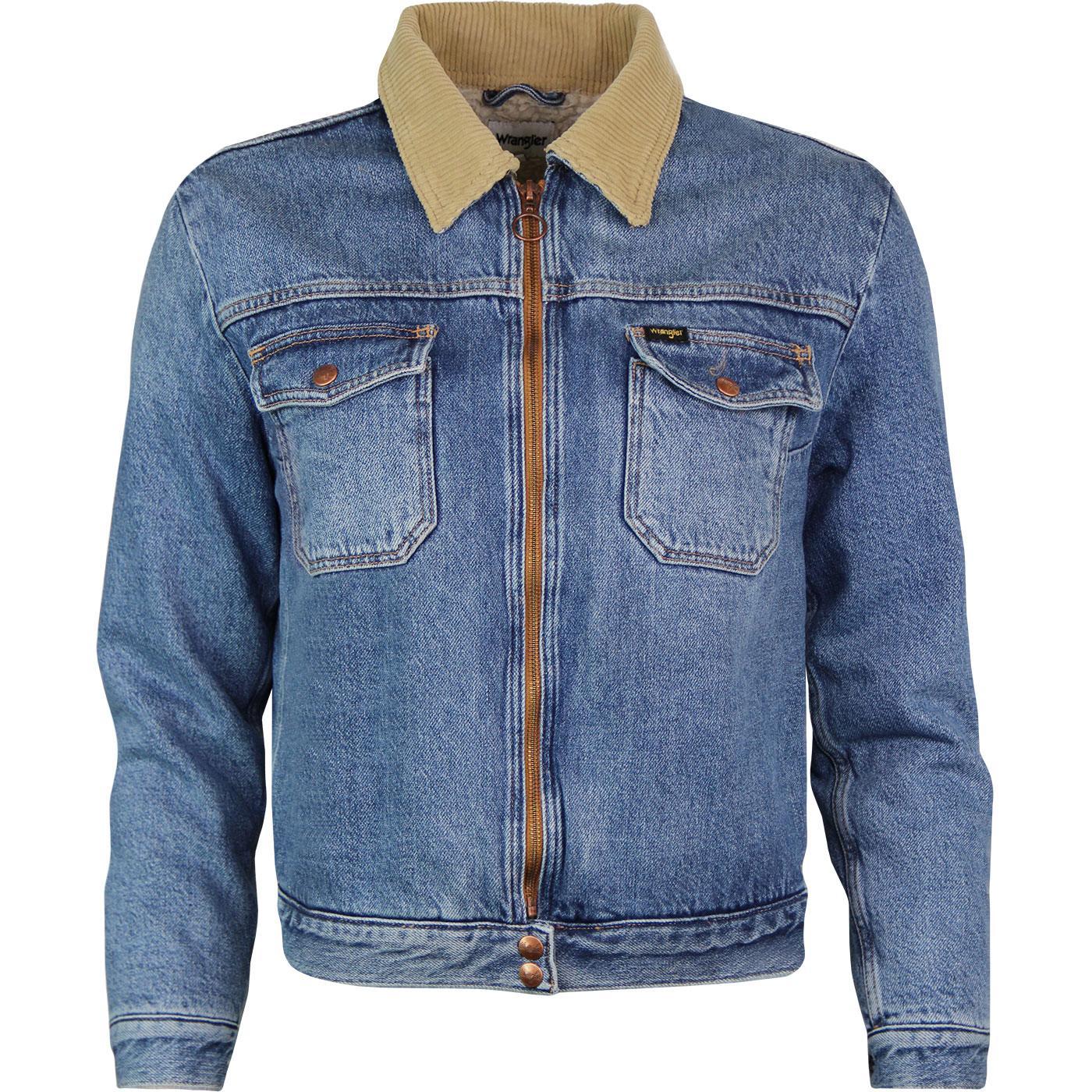 WRANGLER Womens Cord Collar Denim Carpenter Jacket