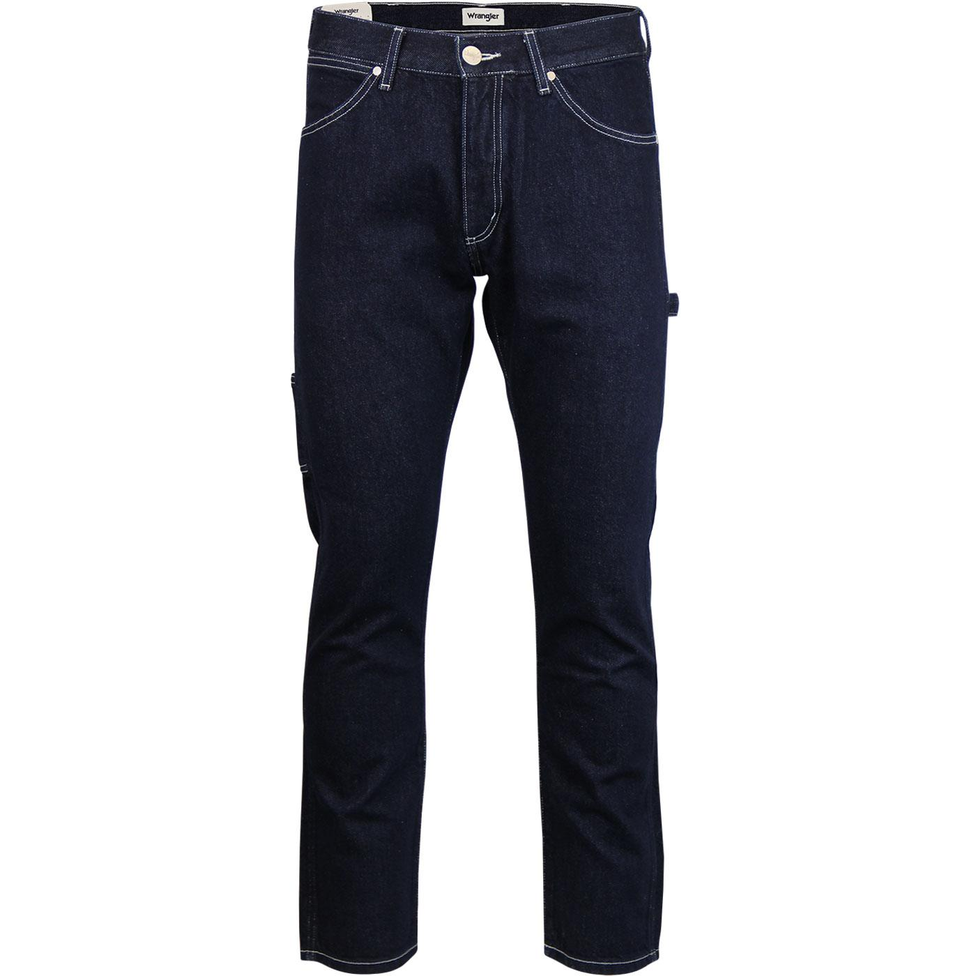 Carpenter WRANGLER Loose Fit Denim Jeans Raw Edge
