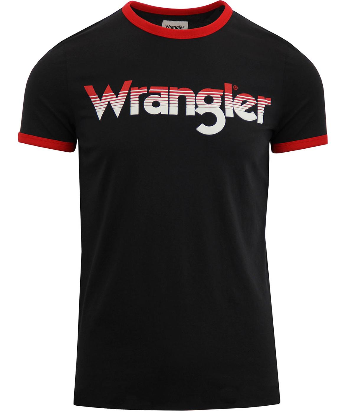 WRANGLER Men's Retro 70s Ringer Logo T-Shirt