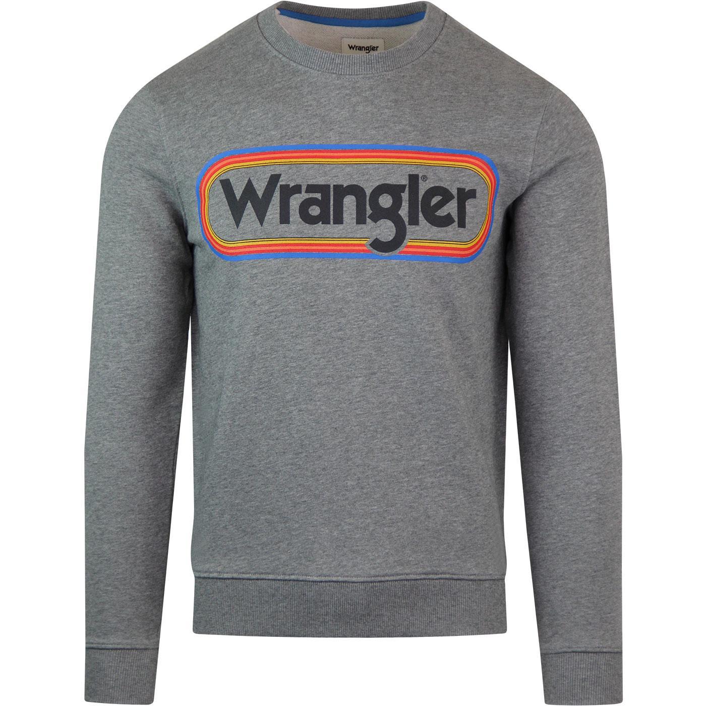 WRANGLER Rainbow Stripe Multi Logo 70s Sweatshirt
