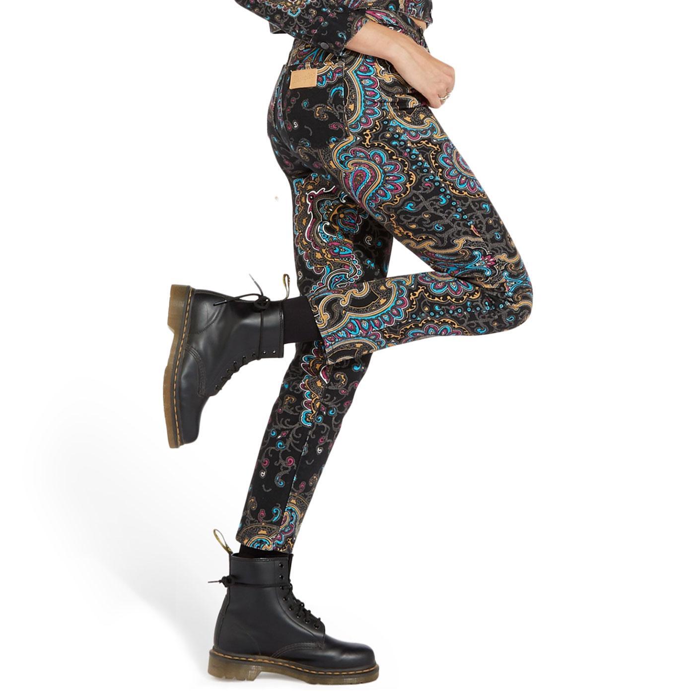 WRANGLER Women's Retro 1960s Slim Paisley Jeans