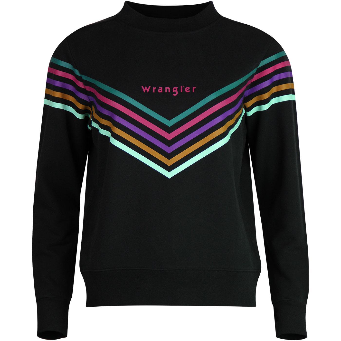 WRANGLER Women's Retro Rainbow Chevron Sweatshirt