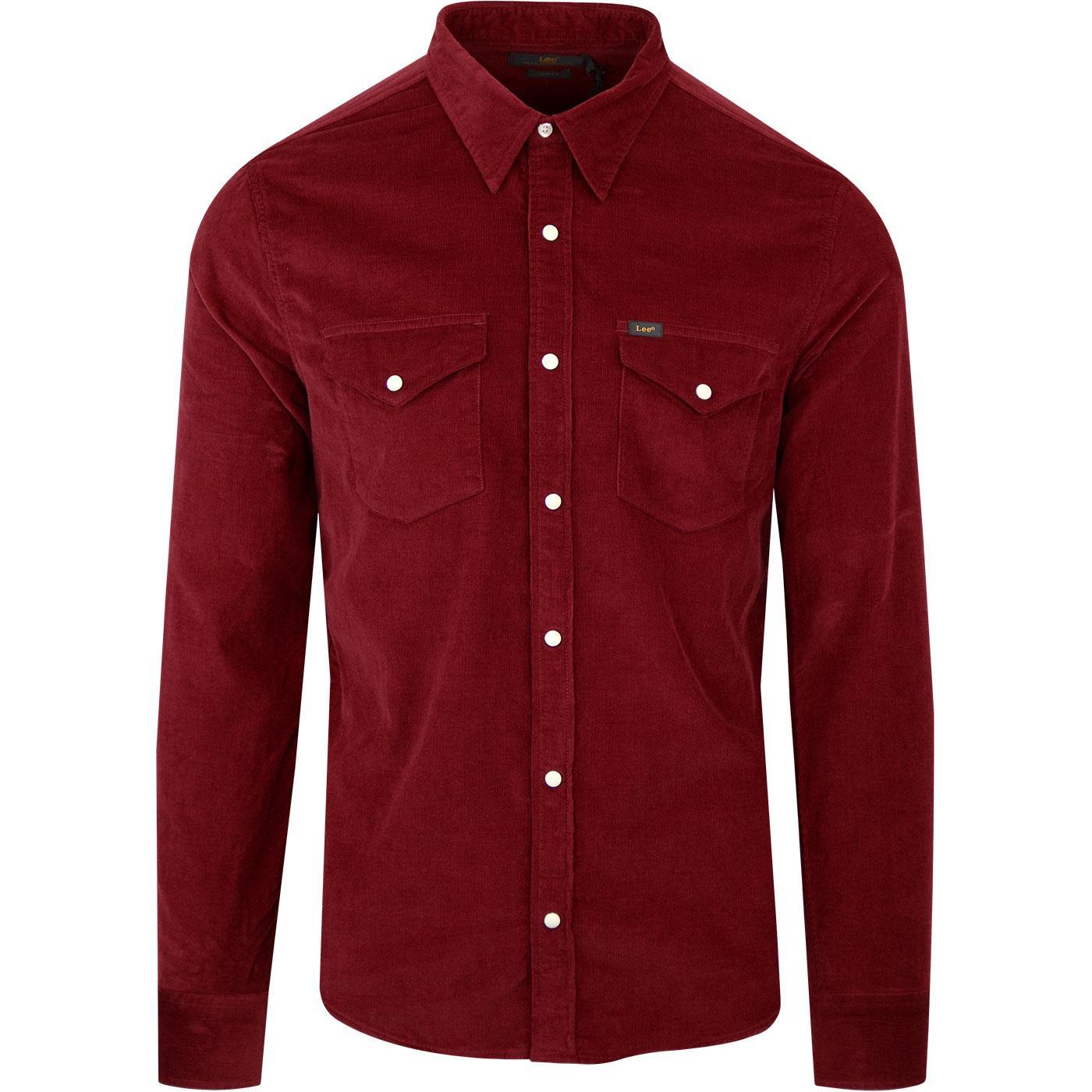 LEE Retro 70s Corduroy Western Shirt (Rhubarb Red)