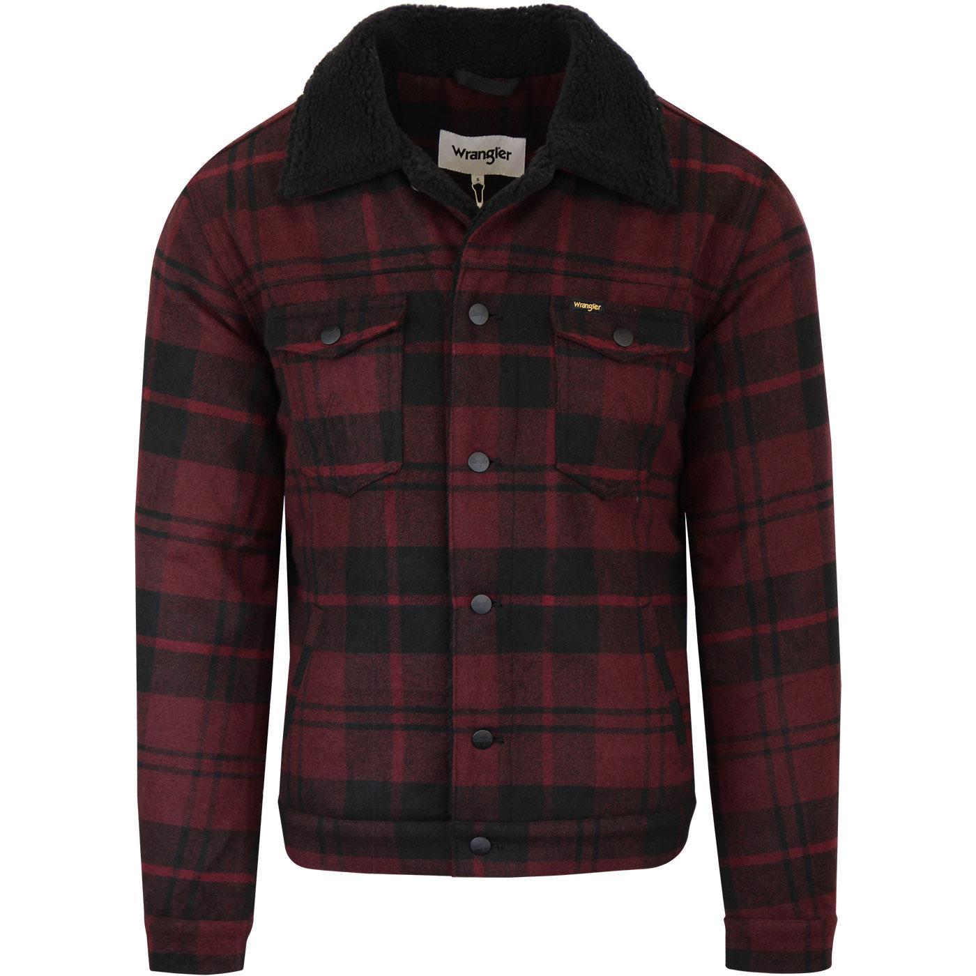 WRANGLER Wool Sherpa Trucker Jacket (Madder Brown)