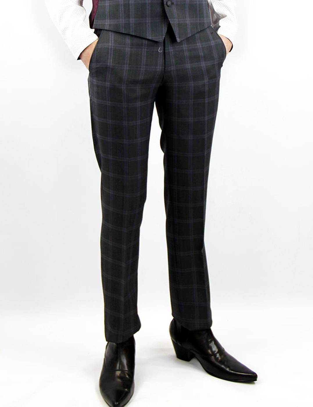 Tailored by Madcap England Mod Check Suit Trousers