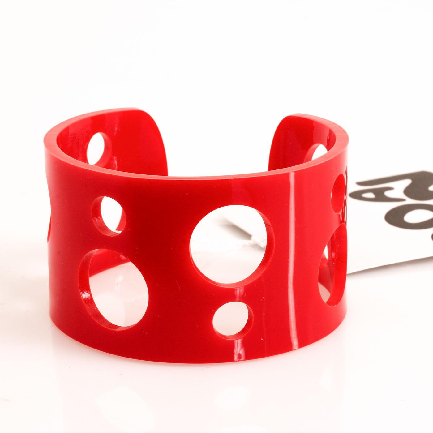 Ada Binks for Madcap England Women's 60s Mod Circle Cuff Bracelet in Red