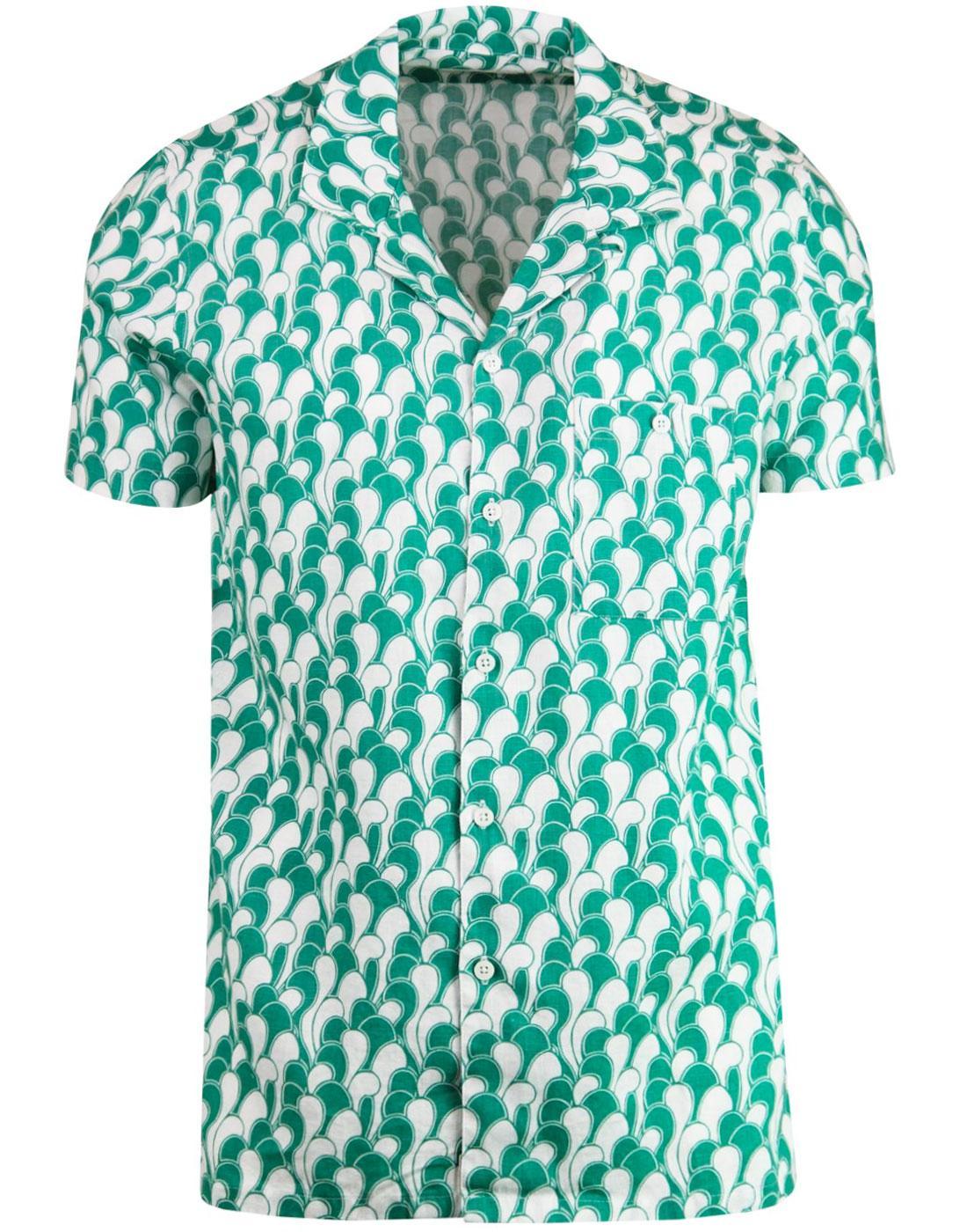 Selleck AFIELD Retro 70s Cine Waves Hawaiian Shirt