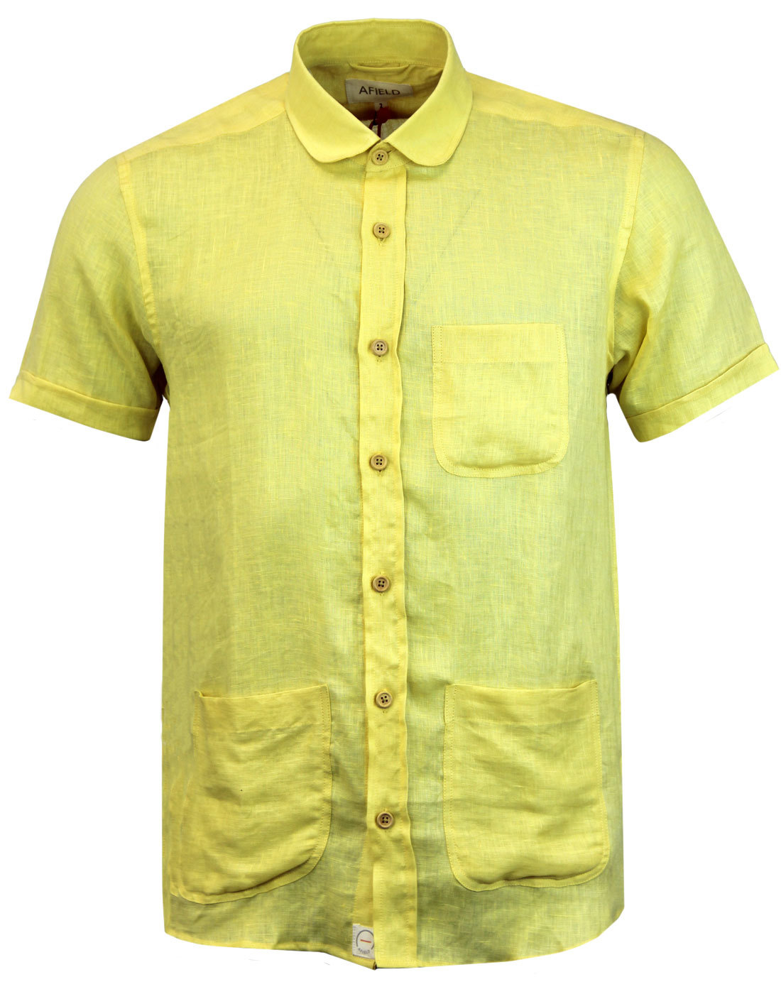Santos AFIELD Retro Linen Slub Penny Collar Shirt