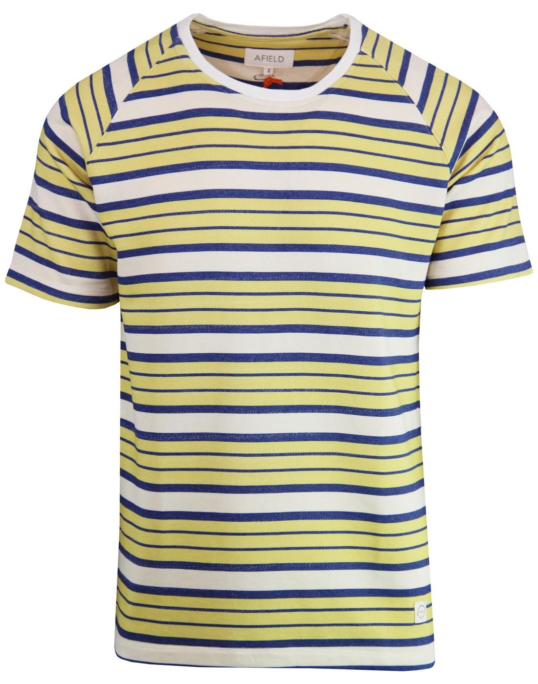 AFIELD Soy Retro 1970s French Terry Stripe T-shirt