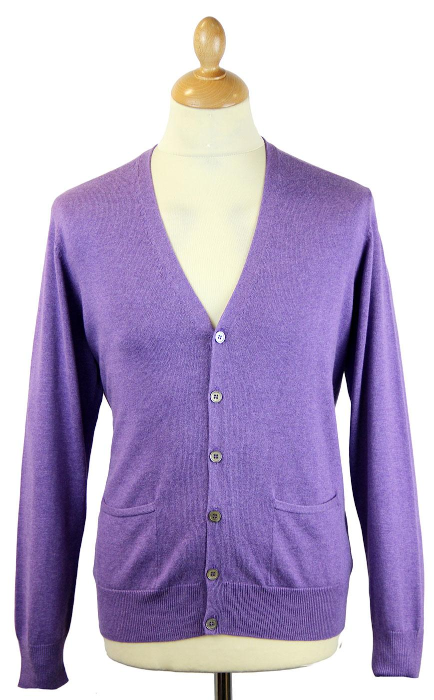 Denside ALAN PAINE Luxury Cotton V-Neck Cardigan G