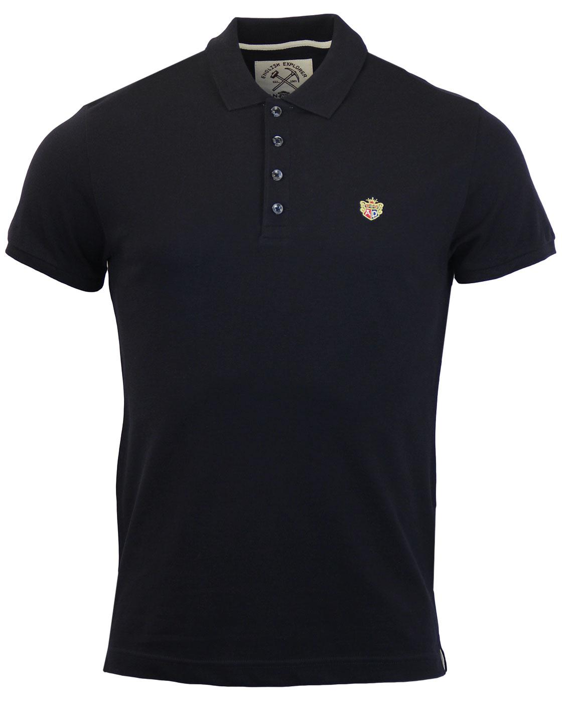 ALAN PAINE Weymouth Retro Mod Crest Logo Polo