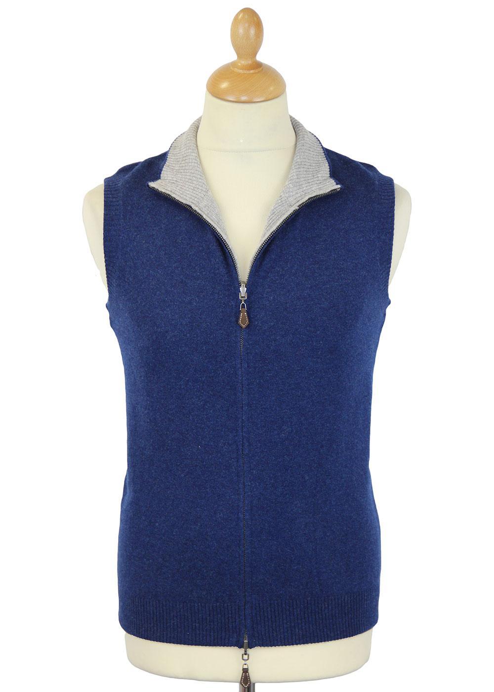 Eastville ALAN PAINE Retro Reversible Wool Gilet I