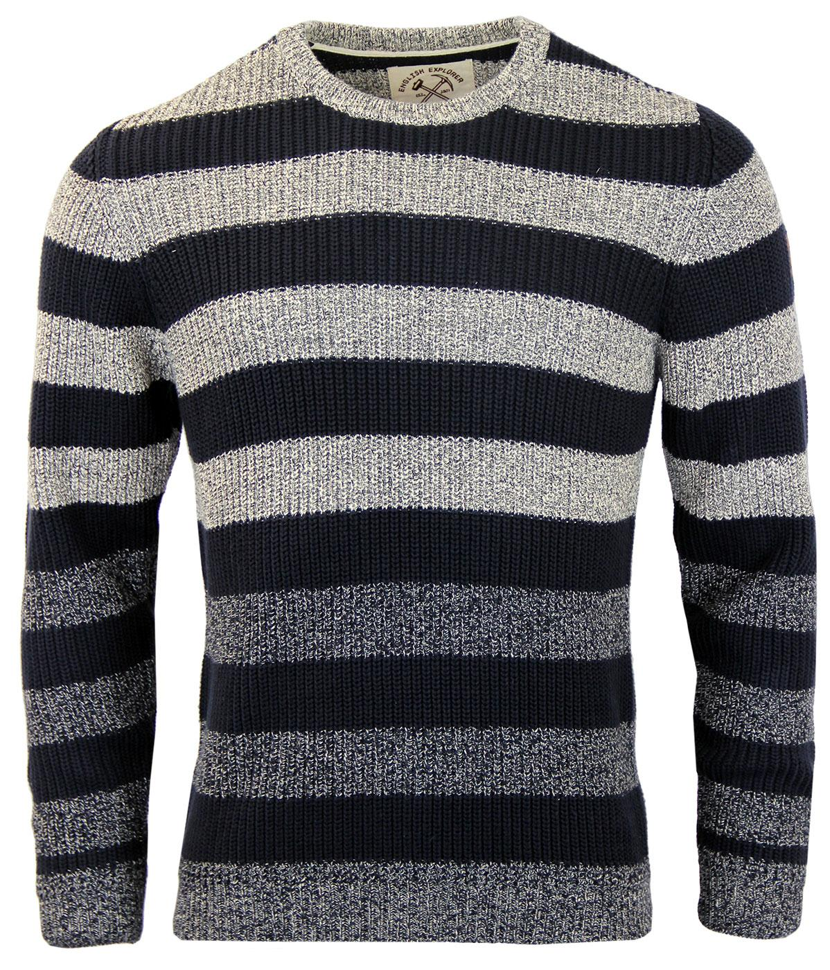 Hunt ALAN PAINE Retro Mod Block Stripe Jumper
