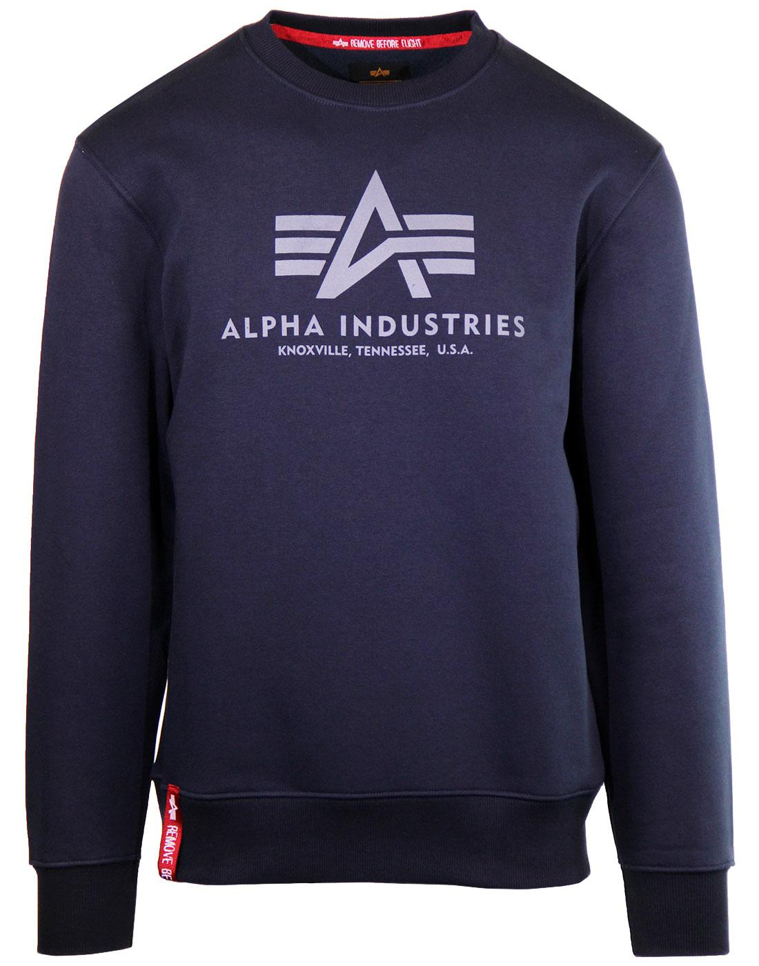 ALPHA INDUSTRIES Men's Military Basic Sweater (BL)