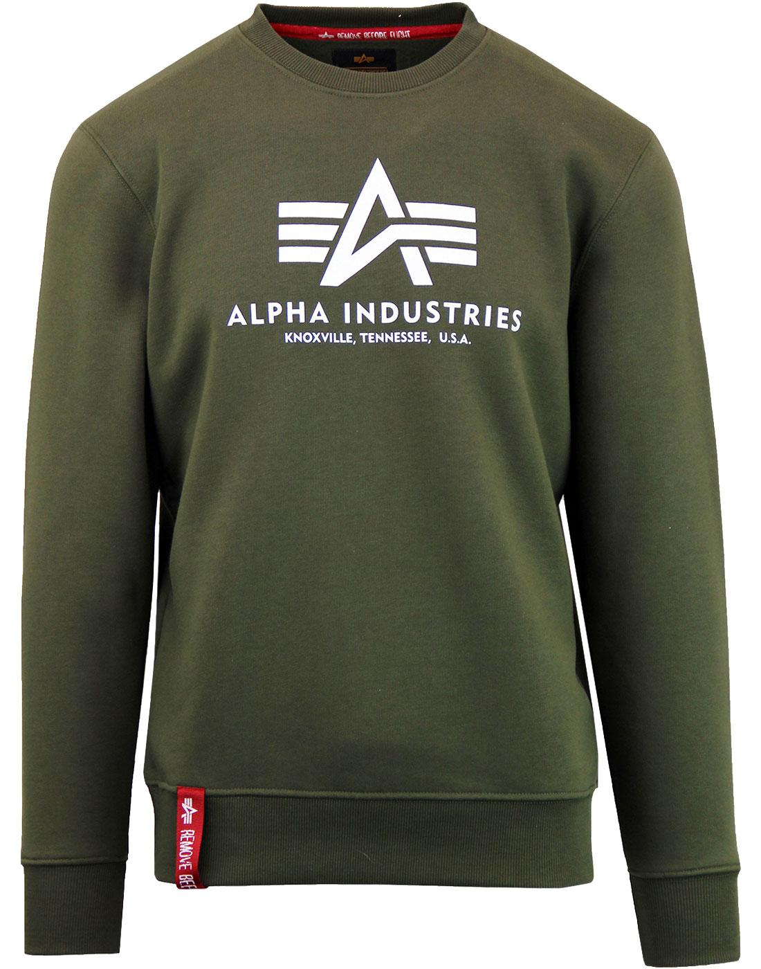 ALPHA INDUSTRIES Men's Military Basic Sweater DG