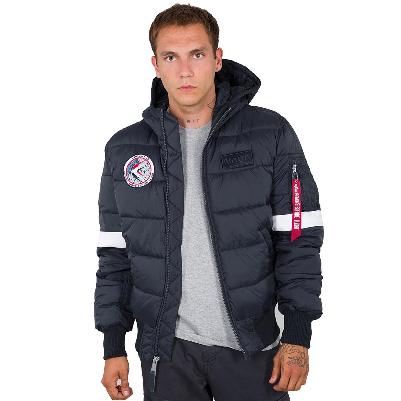 Apollo 15 ALPHA INDUSTRIES Hooded Puffer Jacket