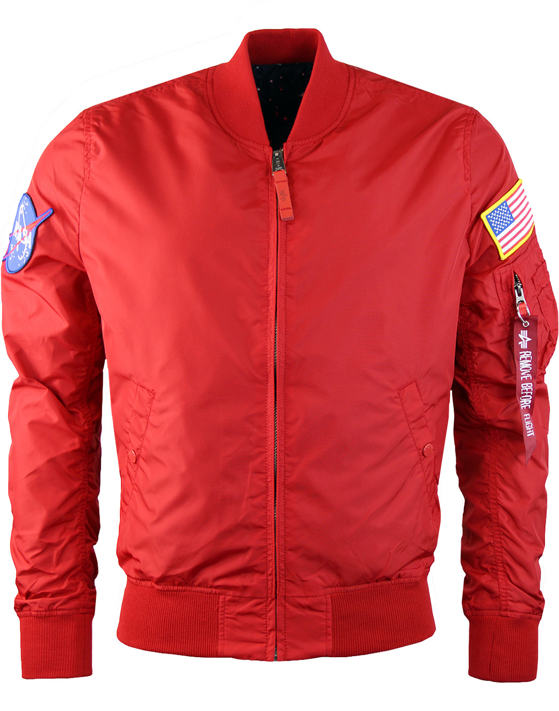 MA-1 TT ALPHA INDUSTRIES NASA Reversible Mod 60s Jacket in Red b47025211f