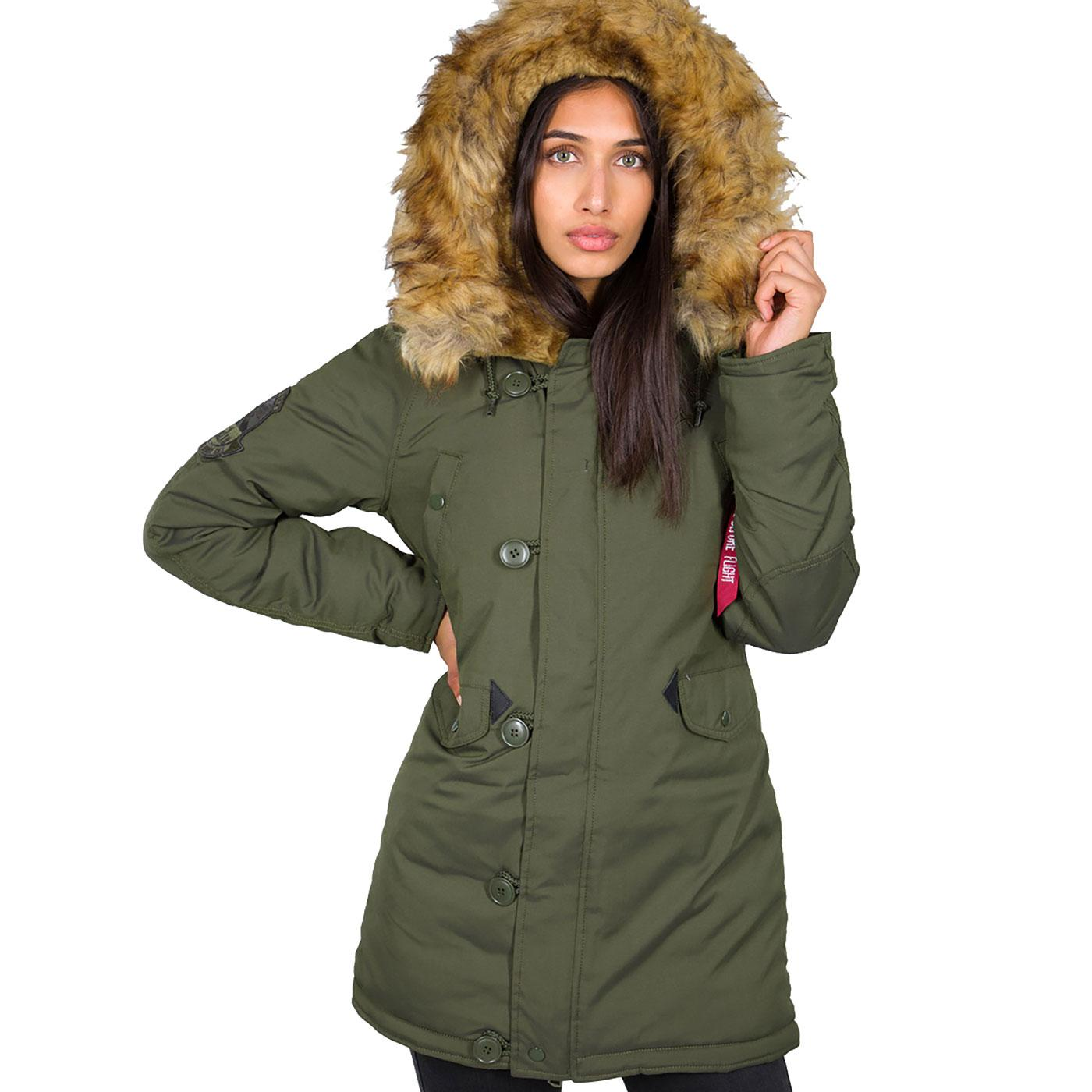 Explorer ALPHA INDUSTRIES Women's Retro Parka DG