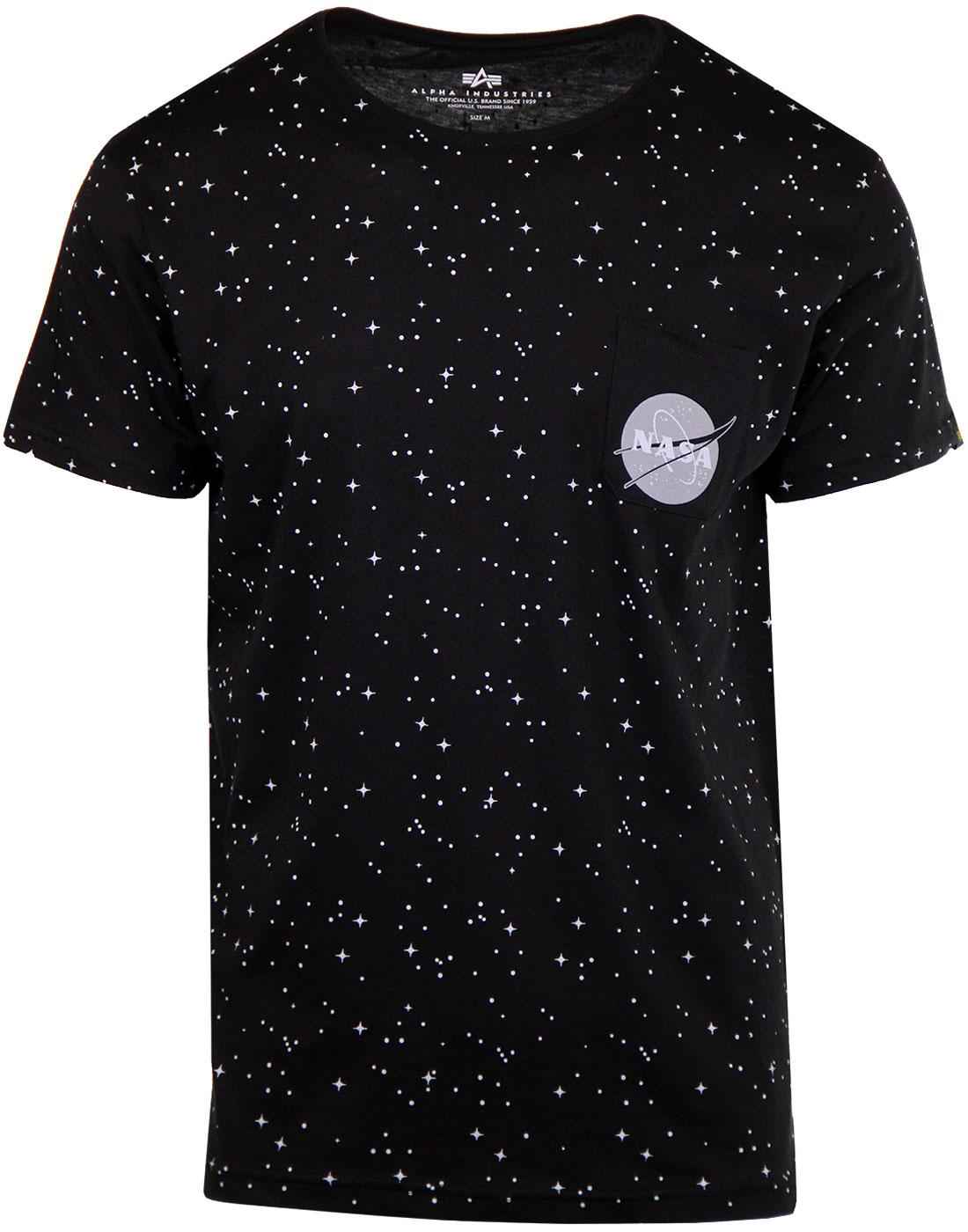 ALPHA INDUSTRIES Starry Retro NASA Pocket Tee (B)