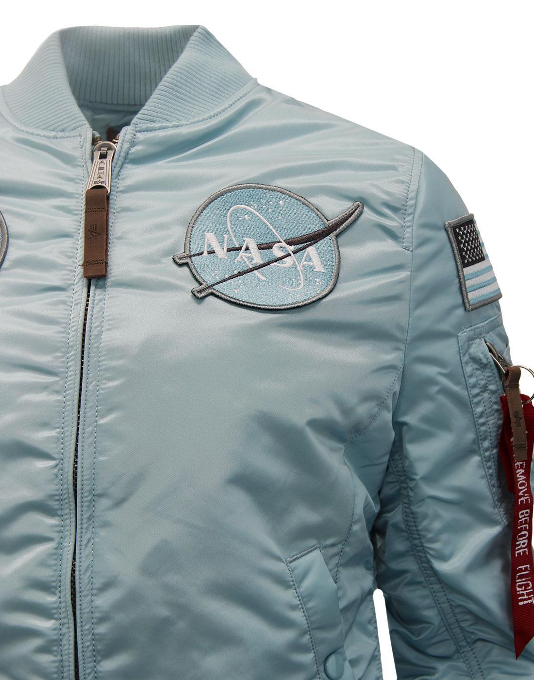 ALPHA INDSUTRIES MA1 VF NASA Women s Retro Bomber Jacket Air Blue bbcb92ee4