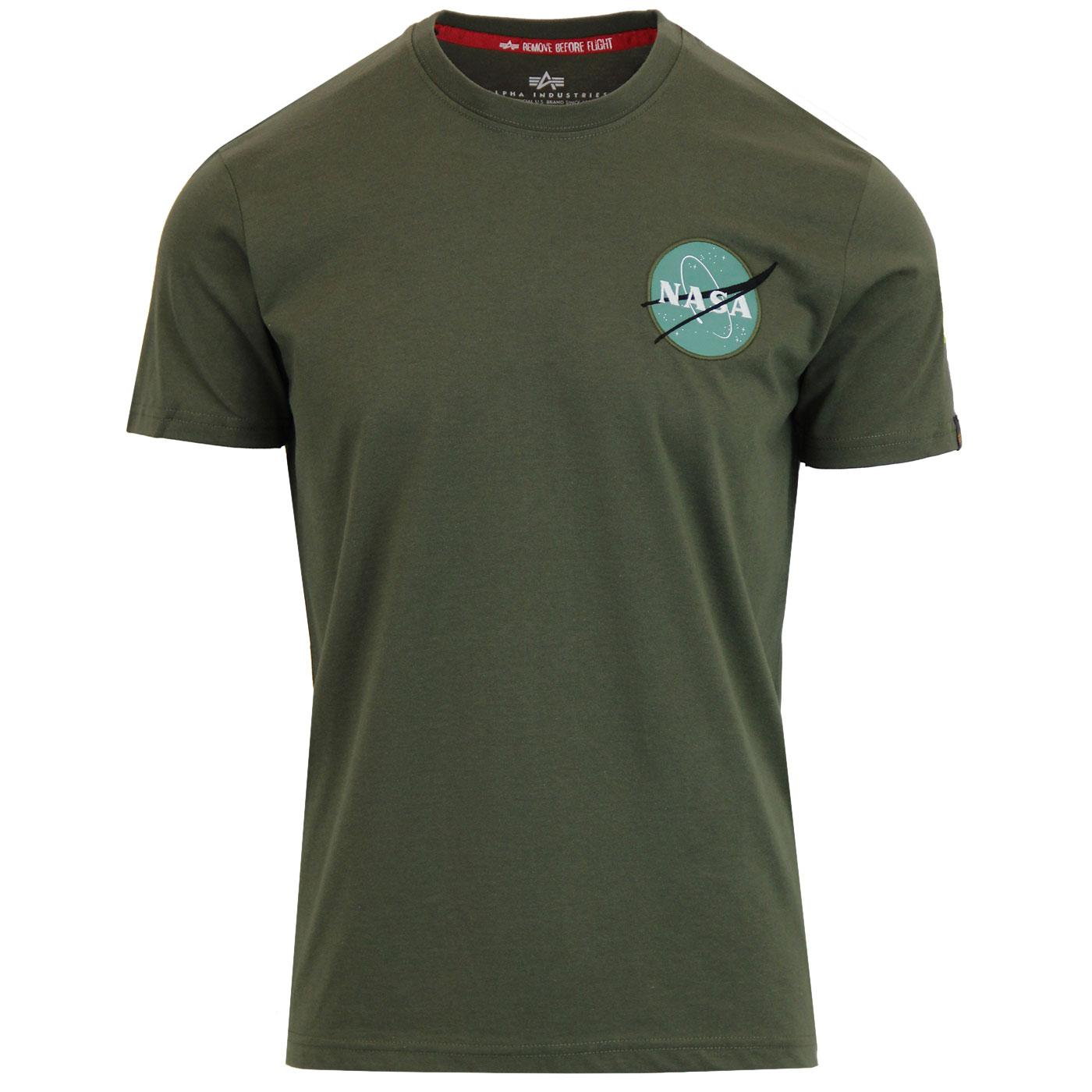 ALPHA INDUSTRIES Mens Space Shuttle Back Print Tee