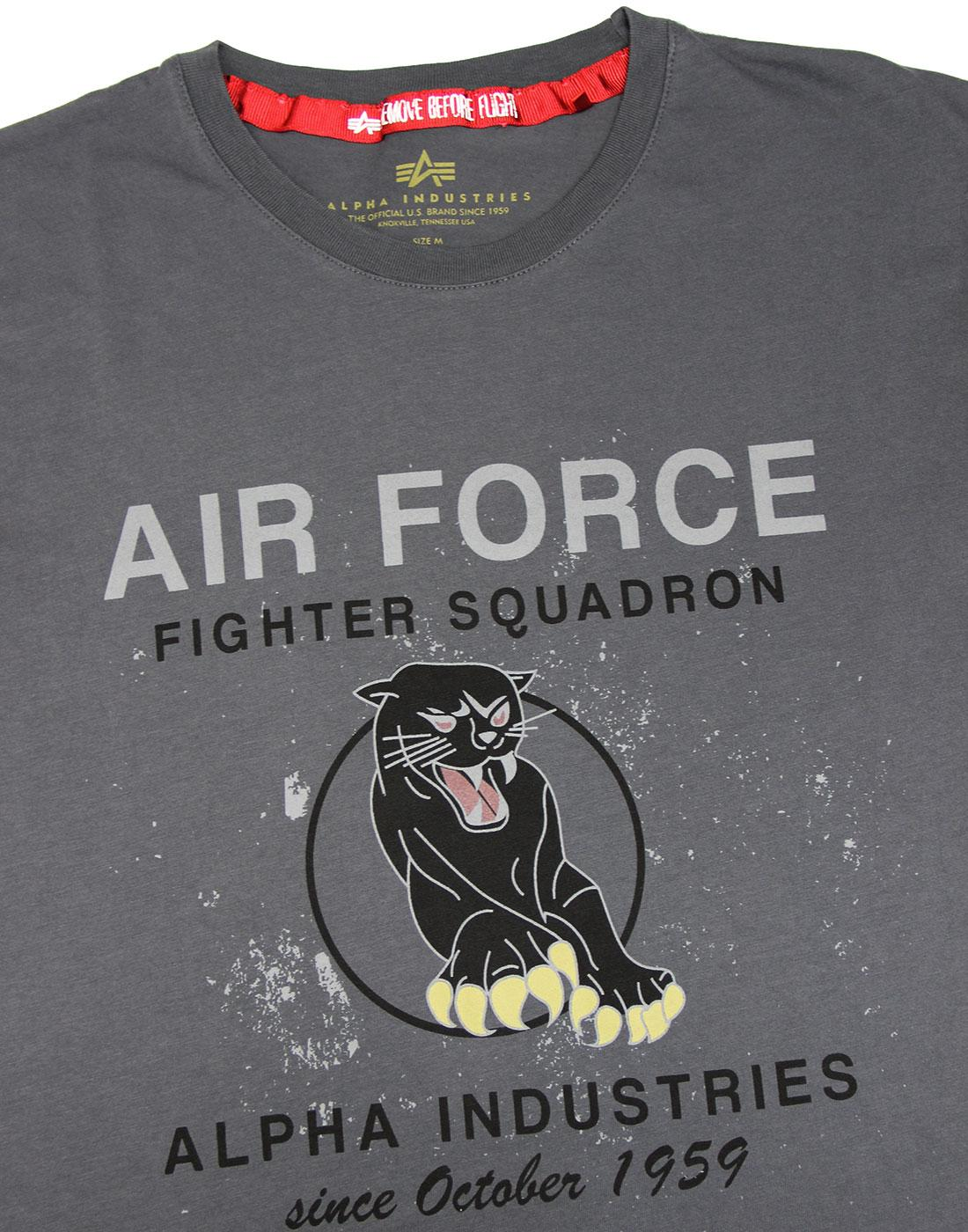 f6ddac4980b ALPHA INDUSTRIES Black Panther Military Air Force T-shirt