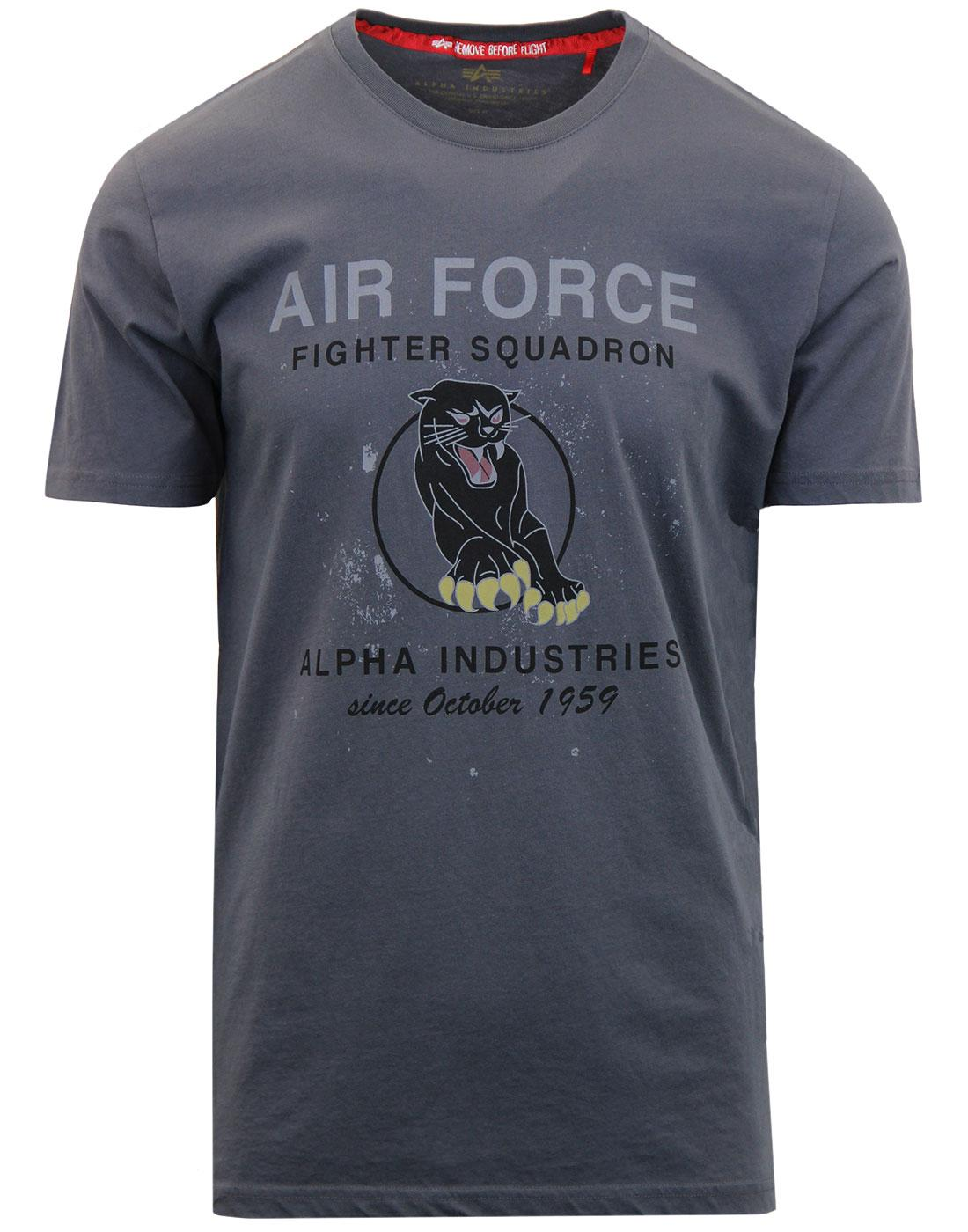Black Panther ALPHA INDUSTRIES Air Force T-shirt