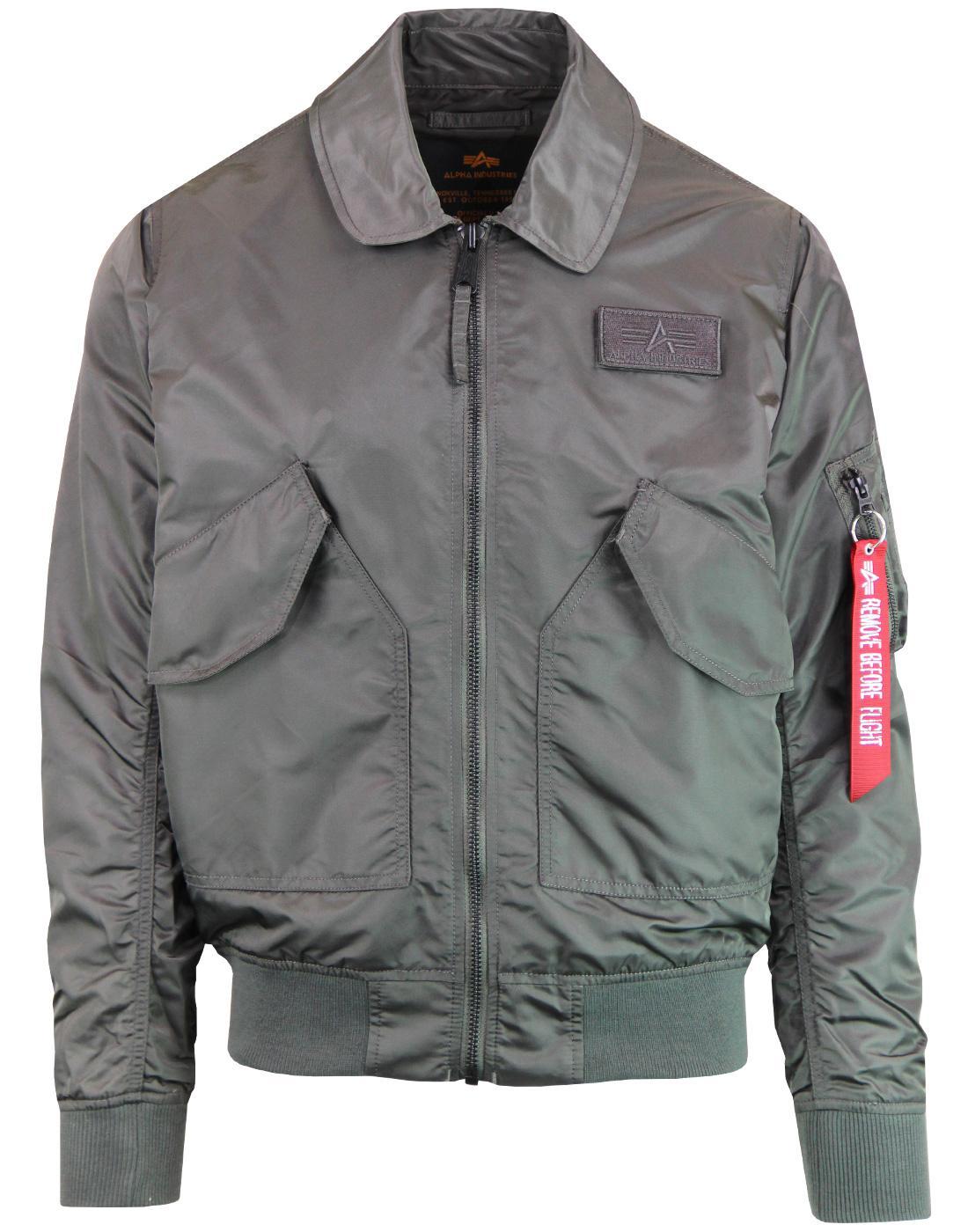 CWU LW PM ALPHA INDUSTRIES Retro Mod Flight Jacket