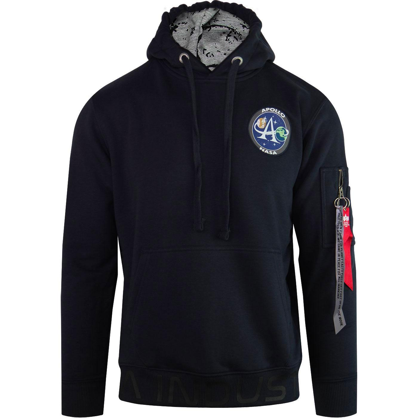 Moon Landing ALPHA INDUSTRIES Retro Hoody REP BLUE