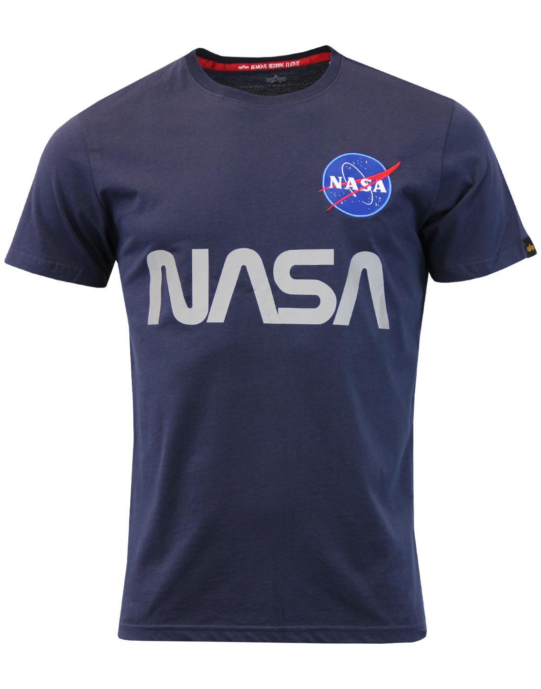 ALPHA INDUSTRIES NASA Reflective Retro T-shirt