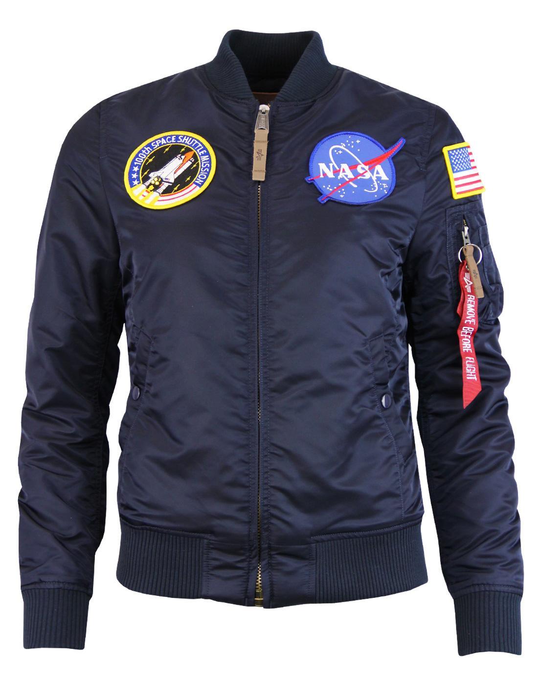 MA1 NASA ALPHA INDUSTRIES Womens Bomber Jacket RB