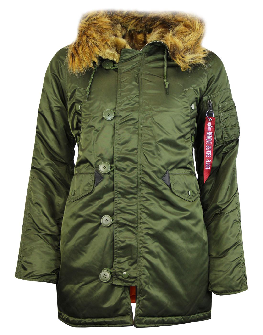 N3B VF ALPHA INDUSTRIES Womens Mod Snorkel Parka G